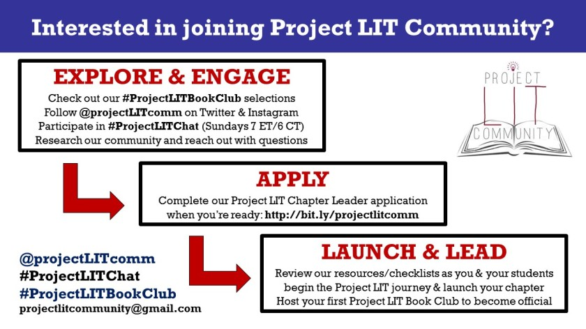 3 Steps to joining Project LIT flyer